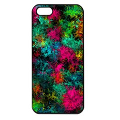 Squiggly Abstract B Apple Iphone 5 Seamless Case (black)