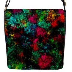 Squiggly Abstract B Flap Messenger Bag (s)