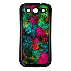 Squiggly Abstract B Samsung Galaxy S3 Back Case (black)