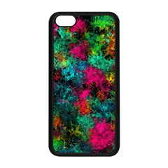 Squiggly Abstract B Apple Iphone 5c Seamless Case (black)