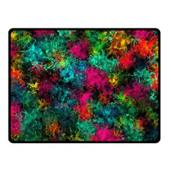 Squiggly Abstract B Double Sided Fleece Blanket (small)