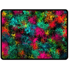 Squiggly Abstract B Double Sided Fleece Blanket (large)