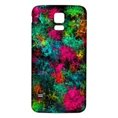 Squiggly Abstract B Samsung Galaxy S5 Back Case (white)