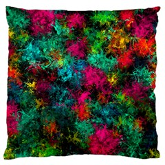 Squiggly Abstract B Large Flano Cushion Case (two Sides)