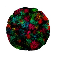 Squiggly Abstract B Standard 15  Premium Flano Round Cushions