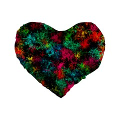 Squiggly Abstract B Standard 16  Premium Flano Heart Shape Cushions