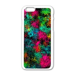 Squiggly Abstract B Apple Iphone 6/6s White Enamel Case