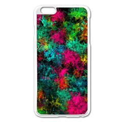 Squiggly Abstract B Apple Iphone 6 Plus/6s Plus Enamel White Case