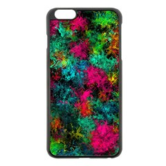 Squiggly Abstract B Apple Iphone 6 Plus/6s Plus Black Enamel Case
