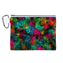 Squiggly Abstract B Canvas Cosmetic Bag (l)