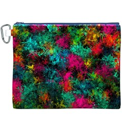 Squiggly Abstract B Canvas Cosmetic Bag (xxxl)