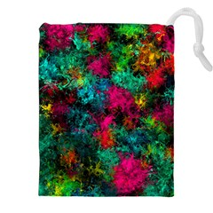 Squiggly Abstract B Drawstring Pouches (xxl)