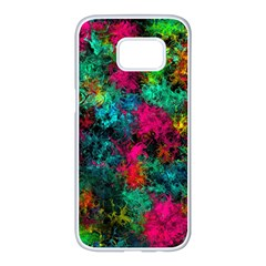 Squiggly Abstract B Samsung Galaxy S7 Edge White Seamless Case