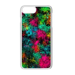 Squiggly Abstract B Apple Iphone 7 Plus White Seamless Case