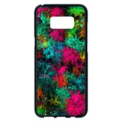Squiggly Abstract B Samsung Galaxy S8 Plus Black Seamless Case