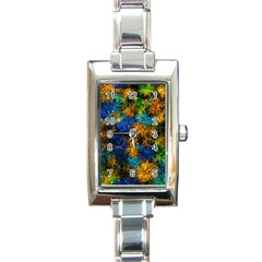 Squiggly Abstract C Rectangle Italian Charm Watch
