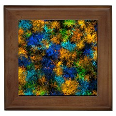 Squiggly Abstract C Framed Tiles