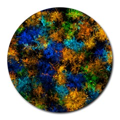 Squiggly Abstract C Round Mousepads