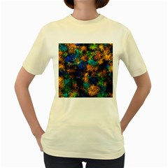 Squiggly Abstract C Women s Yellow T Shirt