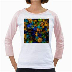 Squiggly Abstract C Girly Raglans
