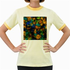 Squiggly Abstract C Women s Fitted Ringer T Shirts
