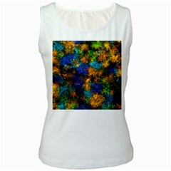 Squiggly Abstract C Women s White Tank Top