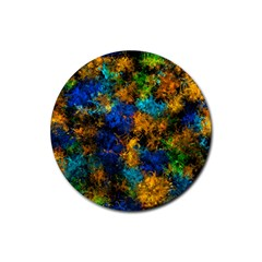 Squiggly Abstract C Rubber Round Coaster (4 Pack)