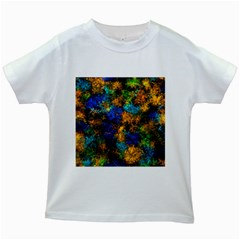 Squiggly Abstract C Kids White T Shirts