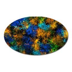 Squiggly Abstract C Oval Magnet