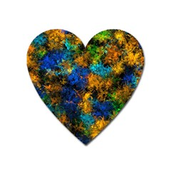 Squiggly Abstract C Heart Magnet