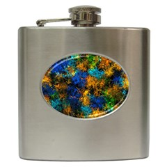 Squiggly Abstract C Hip Flask (6 Oz)