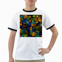 Squiggly Abstract C Ringer T Shirts