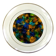 Squiggly Abstract C Porcelain Plates