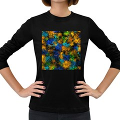 Squiggly Abstract C Women s Long Sleeve Dark T Shirts