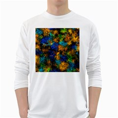 Squiggly Abstract C White Long Sleeve T Shirts
