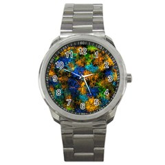 Squiggly Abstract C Sport Metal Watch