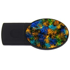 Squiggly Abstract C Usb Flash Drive Oval (4 Gb)