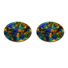 Squiggly Abstract C Cufflinks (oval)