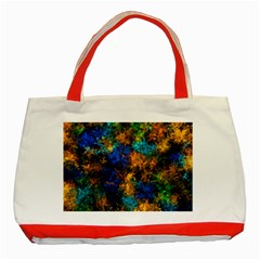 Squiggly Abstract C Classic Tote Bag (red)