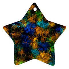 Squiggly Abstract C Star Ornament (two Sides)