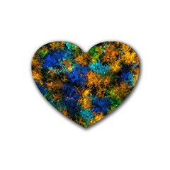Squiggly Abstract C Heart Coaster (4 Pack)