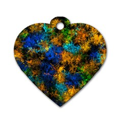Squiggly Abstract C Dog Tag Heart (one Side)