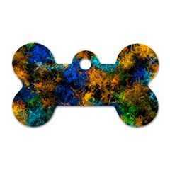 Squiggly Abstract C Dog Tag Bone (one Side)