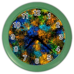 Squiggly Abstract C Color Wall Clocks