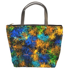 Squiggly Abstract C Bucket Bags