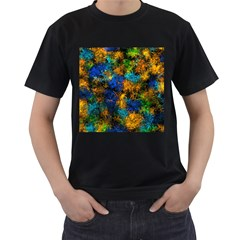 Squiggly Abstract C Men s T Shirt (black)