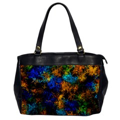 Squiggly Abstract C Office Handbags