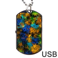 Squiggly Abstract C Dog Tag Usb Flash (one Side)