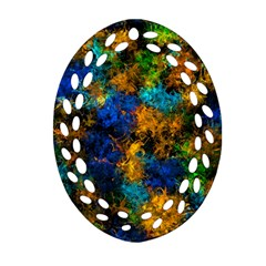 Squiggly Abstract C Oval Filigree Ornament (two Sides)