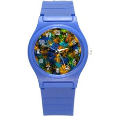 Squiggly Abstract C Round Plastic Sport Watch (s)